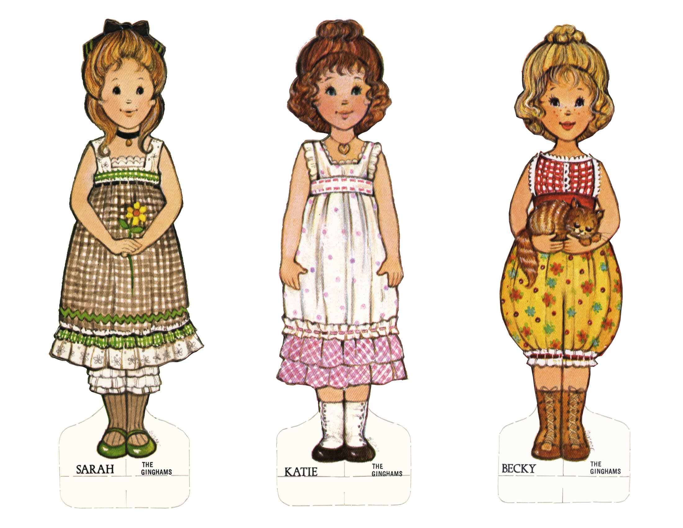 Top Ginghams Paper Dolls CP37