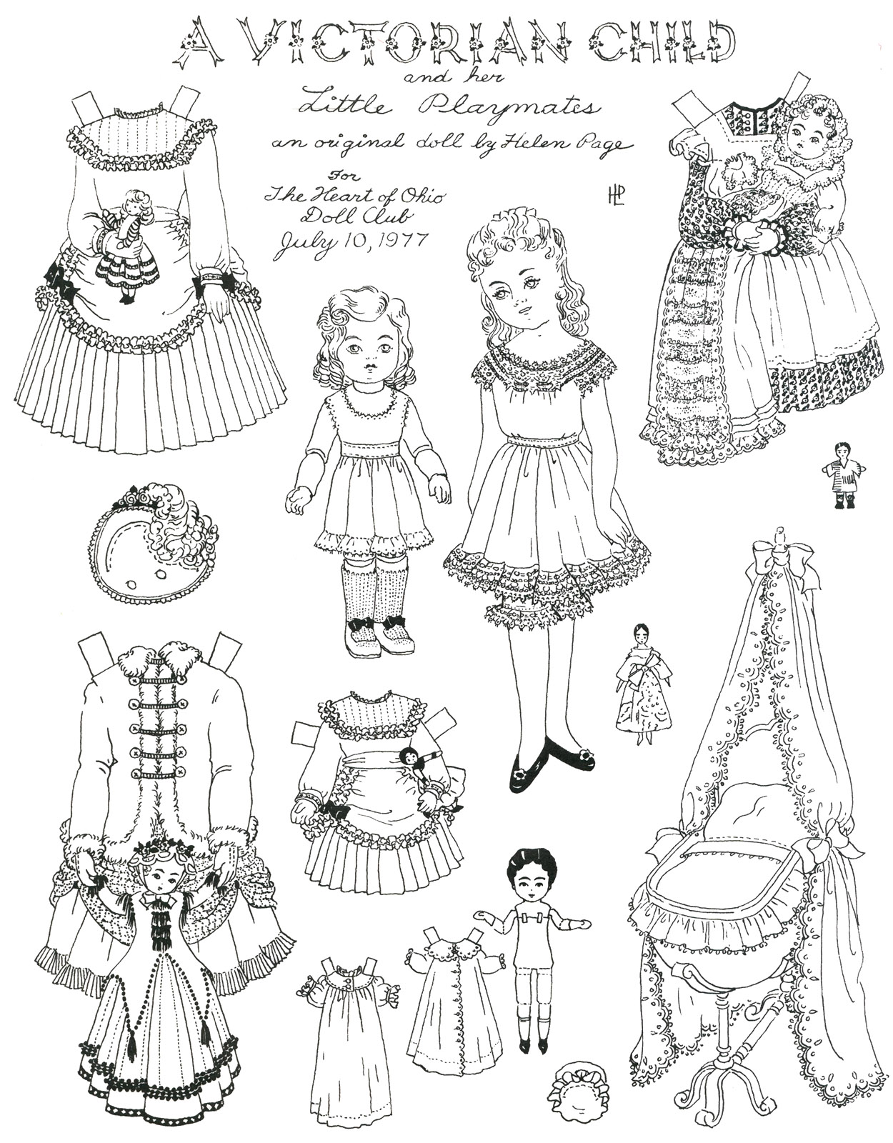 Helen Page Paper Dolls to Color