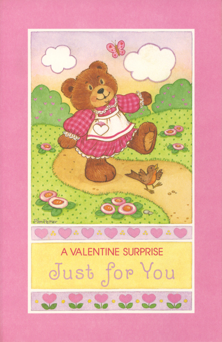 Valentine Paper Doll Cards Bear By Pam Peltier